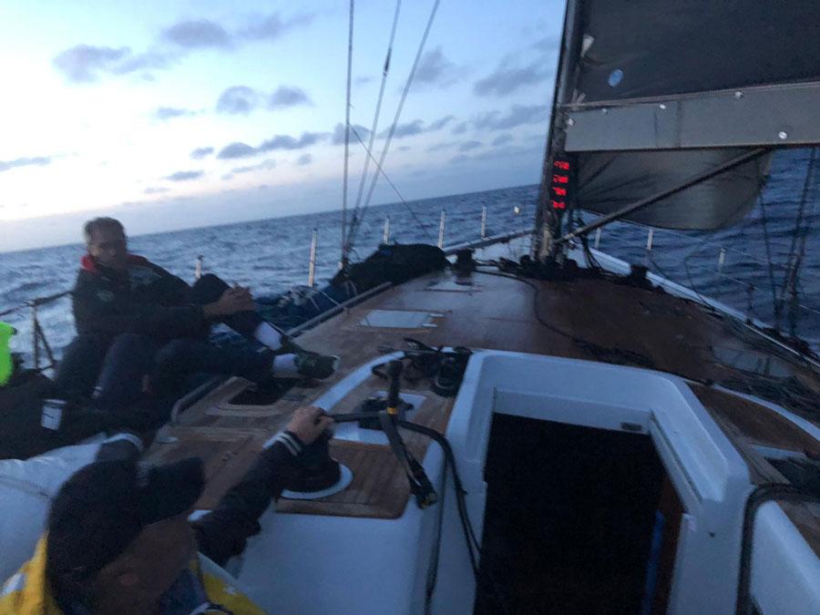 Victoria a bordo del Clajasan Baltic 61